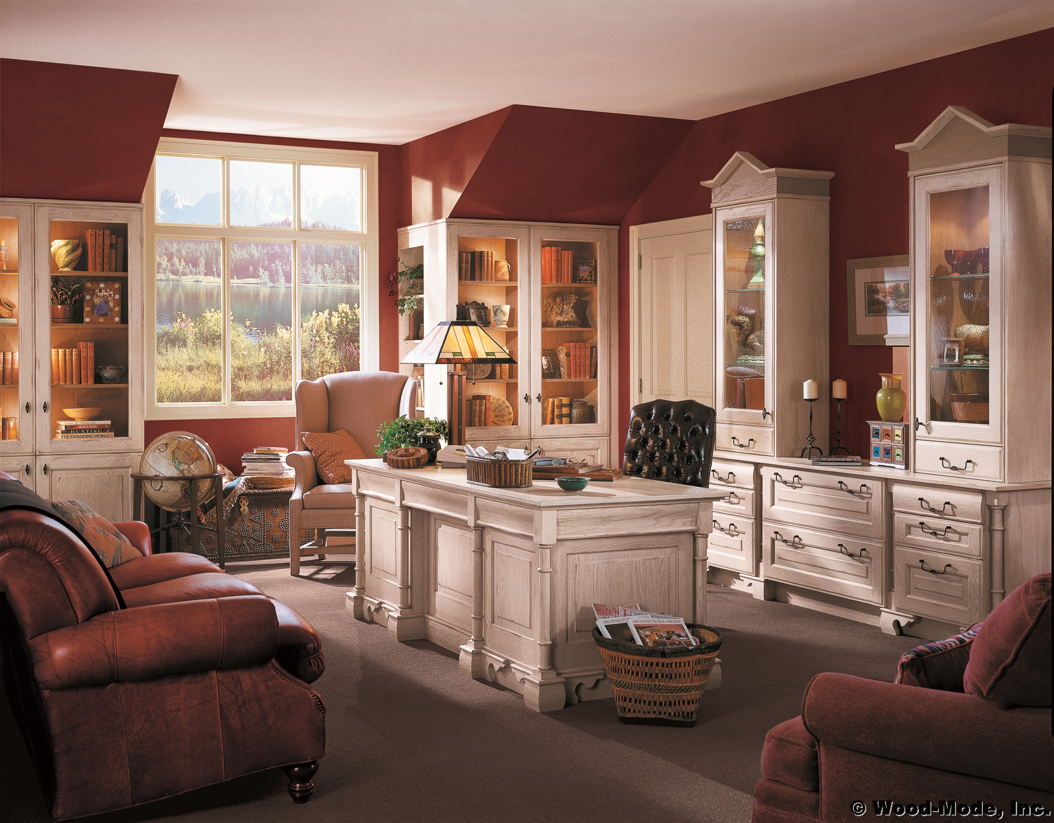 Home offices for Casual kitchen design ideas