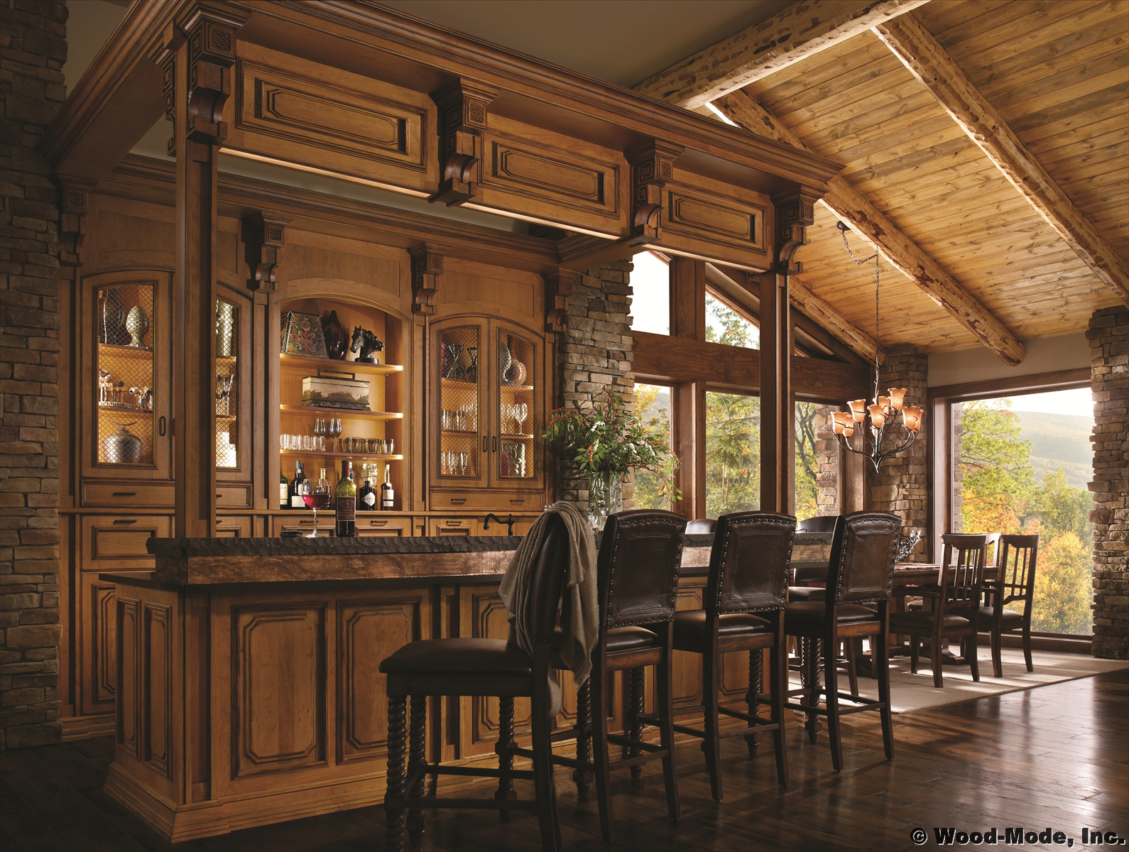 Moutain Retreat Bar by Wood-Mode