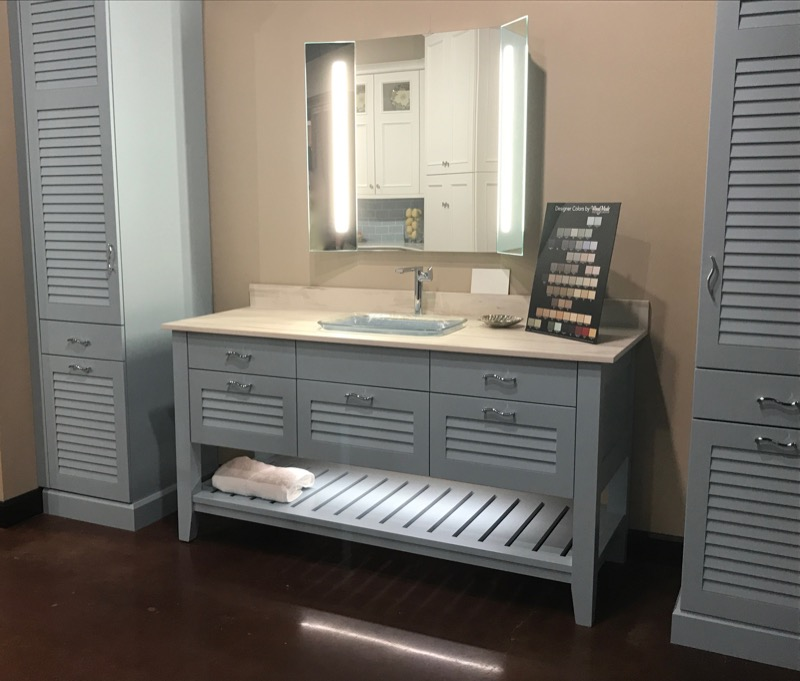 Brookhaven Key West Bathroom at Cabinets and Designs Showroom