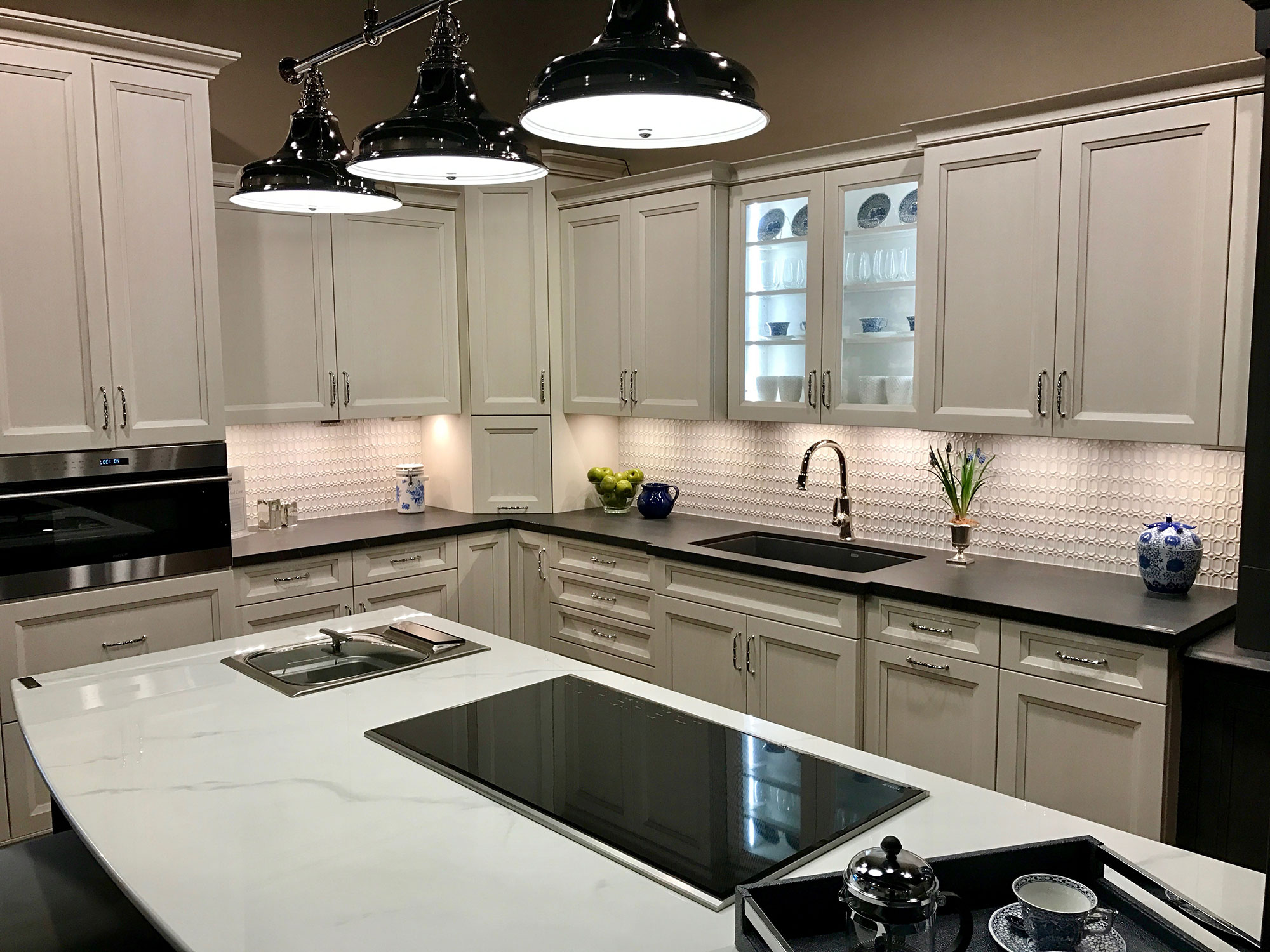 Nordic White Kitchen in Cabinets Designs Showroom